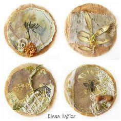 The Emergence of Spring Teabag Art by Velvet Moth Studio
