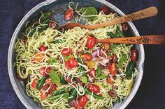 Mediterranean Rice Noodles - just made this with regular pasta.  Its light and delish for a summer lunch or as a side.