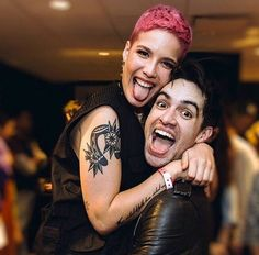 Halsey and Brendon Urie-- EVEN THOUGH I LOVE SARAH AND BRENDON OML HALSEY AND BRENDON ARE SO CUTE TBH