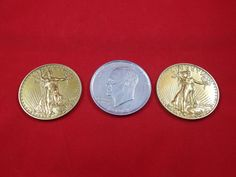 Vintage Over sized Coin Collectibles by AlwaysPlanBVintage on Etsy