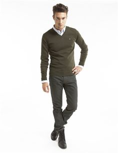 Chinos or colored khakis are a great alternative to jeans - comfortable and professional!