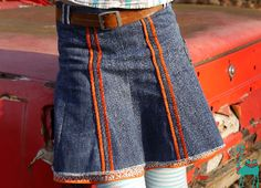 Jeans Recycling Nouvelle jupe avec vieux jeans  #JeansRecycling#ZweiLagenRock#LillesolUndPelle