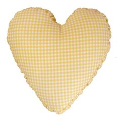 Brighten up your day with this unique shirred side band heart pillow. Made from 100% cotton Gingham print fabric and nicely filled with soft polyester fiber.