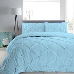 600TC UK SIZE Blue Solid 100/%Cotton Duvet With Zipper/&Corner Ties BEDDING ITEMS