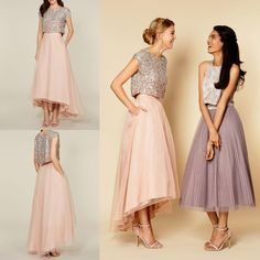 shiny-blush-sequins-high-low-bridesmaid-dresses