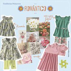 O clima de amor invadiu as inspirações da coleção Primavera Brandili. Delicadeza e feminilidade foram traduzidas em estampas de bonecas, laços, corações e muitas e muitas flores.  Quem ama ver sua pequena bem princesinha?