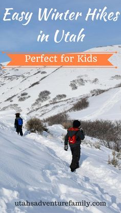 Who knew you could hike in Utah in the winter without snowshoes and have a ton of fun? We found a bunch of Easy Winter Hikes in Utah perfect for kids!