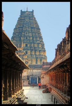 Gateway of the Krishna temple at Hampi, Karnataka, #India