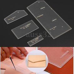Сделай сам аид сделана прозрачной акриловой кожаный бумажник шаблон для Кожевенное Ремесло узор | Рукоделие, Изготовление изделий из кожи, Инструменты для работы с кожей | eBay!