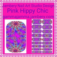 Purfect Neon Hot Pink with Purple Tie-dye Manicure.. To obtain this exclusive Contact me at: gammajamma.jamberry.com