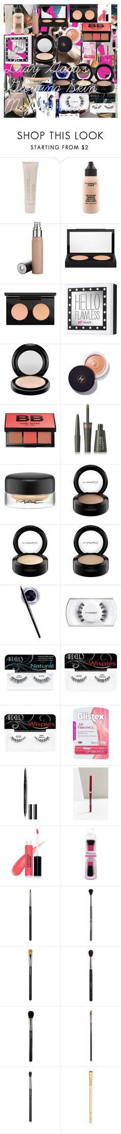Lady Gaga's Glowing Skin Makeup Tutorial by oroartye-1 on Polyvore featuring beauty, Benefit, MAC Cosmetics, Chanel, Bobbi Brown Cosmetics, Laura Mercier, Inglot, LashFood, Stila and Manna Kadar Cosmetics
