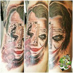 Domex ink Tattoo  Oberarm Joker Batman