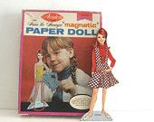 Vintage Magnetic Paper Doll Teena the Teenager with outfits