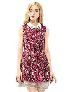 Elf Sack Womens Summer Dress Peter Pan Collar Sleeveless Geometric Jacquard Small Size Red Elf Sack http://www.amazon.com/dp/B00KYNLFS4/ref=cm_sw_r_pi_dp_h2ZYub0N4EJSC