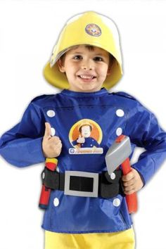 Fireman Sam costume- wish I could find one! Daniel would love this!!!