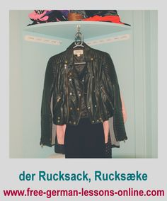 Learn how to say leather jacket in German.