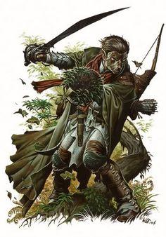 Wayne Reynolds - Male Elf ranger/druid