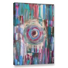 """Latitude Run Abstract 7 Painting Print on Wrapped Canvas Size: 48"""" H x 32"""" W x 2"""" D"""