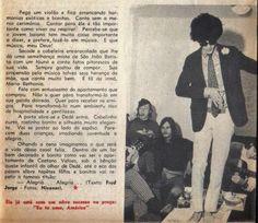 Reportagem da Revista Realidade de 1968 sobre Caetano Veloso  Texto: Fred Jorge Foto : Nicanor
