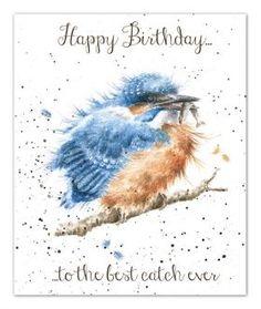 OC039|Best catch birthday card by Wrendale Designs