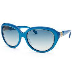 20e55ae7eca4 Roberto Cavalli Women s Acqua Round Blue Sunglasses featuring polyvore  fashion accessories eyewear sunglasses blue round frame glasses gradient  sunglasses ...