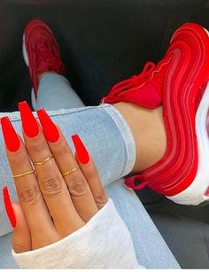41 Sensational Red Nail Arts & Shoes Combo in 2018. Explore the best ever combinations of fashion and beauty. You can see here the gorgeous nail art designs and shoes styles in red colors to wear in 2018. This is one of the amazing fashion choice for women to take right now. We have seen that red color is one of common ideas for women to paint their nails. So, take a look and choose best styles in 2018.