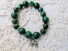 Malachite Handmade bracelet made of natural by LadyArtRali on Etsy