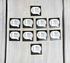 XMAS Aufkleber  10 Stk. Schwarz Weiß von Gisa's auf DaWanda.com