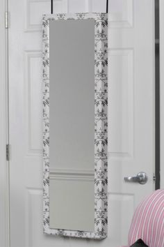 Over-the-Door Floral Mirrored Jewelry Armoire
