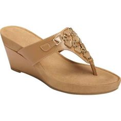 Women's Aerosoles Air Light Thong Sandal Nude Faux