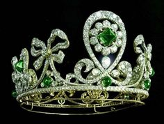 Tiara with emeralds (Bolin, 1900)