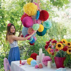 bouquet de boules de papier