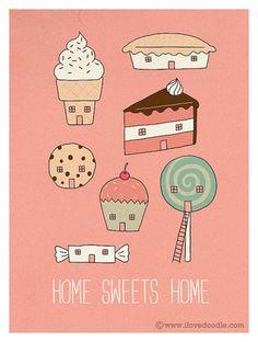 cute sweet + desserts illustration