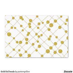 "Gold foil beads 10"" x 15"" tissue paper  http://www.zazzle.com/gold_foil_beads_10_x_15_tissue_paper-256083022700313589?rf=238588924226571373"