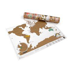 Scratch-map - OMG I need this!!! Luckies LUKSTRA Rubbelweltkartekarte im Reiseformat, Travel Edition, 42 x 29,7 x 0,1 cm: 3dsupply: Amazon.de: Küche & Haushalt