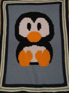 Ravelry: Baby Penguin Blanket pattern by Marilyn Rodriguez