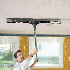 How to Apply Knock Down Texture from the Handyman. Better than popcorn ceilings but still hides imperfections