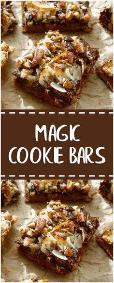 Magic Cookie Bars #cookiebars #easyrecipe #delicious #foodlover #homecooking #cooking #cookingtips
