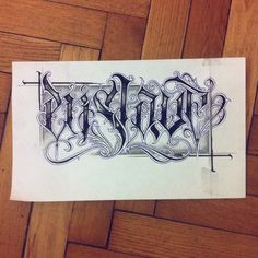 Enslave. #wlk #calligraphy #calligritype #chicano #tattoo … | Flickr