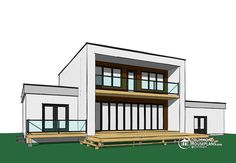 Discover the Nevio Modern Home that has 5 bedrooms, 2 full baths and 1 half bath from House Plans and More. See amenities for Plan Pole Barn House Plans, Pole Barn Homes, Contemporary House Plans, Contemporary Style, Garage Double, Zen, Drummond House Plans, House Plans And More, Shed Plans