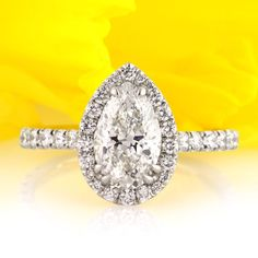 2.50ct Pear Shaped Diamond Engagement Anniversary by MarkBroumand