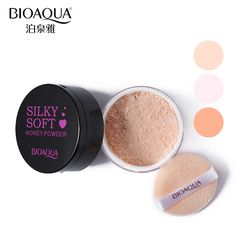 BIOAQUA Brand Translucent Loose Powder Makeup Brighten Concealer  Oil-control Silky Compact Honey Powder Base Women Cosmetics