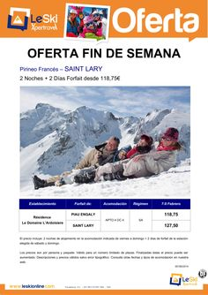 SAINT LARY Oferta Especial Fin de Semana 7-9 Febrero desde 118,75 euros ultimo minuto - http://zocotours.com/saint-lary-oferta-especial-fin-de-semana-7-9-febrero-desde-11875-euros-ultimo-minuto-2/