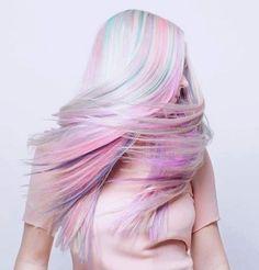 Pastel colours; she is like a uuuuunicorn