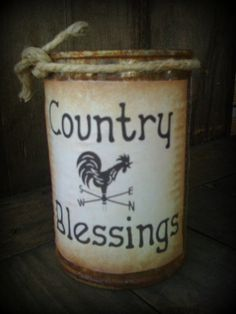 Candle  Rusty Can Candle  Scented  Country by DebsCandlesandDreams, $11.99