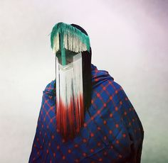 Art by Damselfrau Design Textile, Mode Costume, Fashion Mask, Masks Art, Manado, Tribal Fashion, Textiles, Mask Design, Headdress