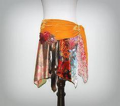 Boho Belt, Sash, Wrap, Hip Scarf, Tattered, Lace, Fairy, Woodland, Hippie, Gypsy, Eco Earth Friendly, Upcycled Clothing