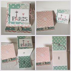 Easel Card con Mini Album Paris