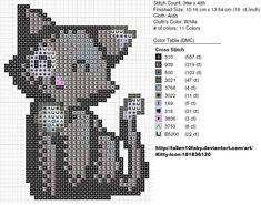 Black and White Cat by carand88.deviantart.com on @deviantART kawaii cross stitch