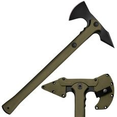 Cold Steel Trench Hawk Combat Tomahawk Inch Drop Forged Hawk) 19 Inch OD Green Polypropylene Handle, Secure-Ex Sheath